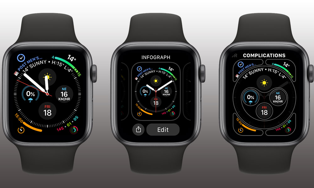 watchOS 7 Changing Watch Faces