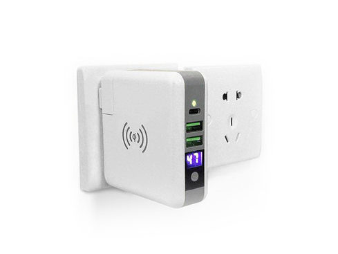 3 Port Outlet Charger with Power Bank