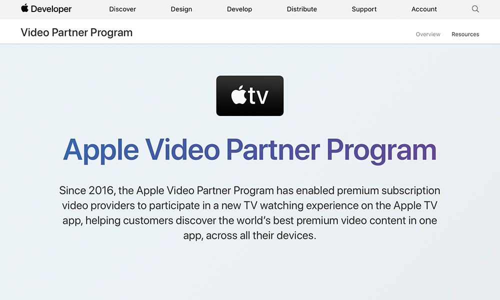 Apple Video Partner Program