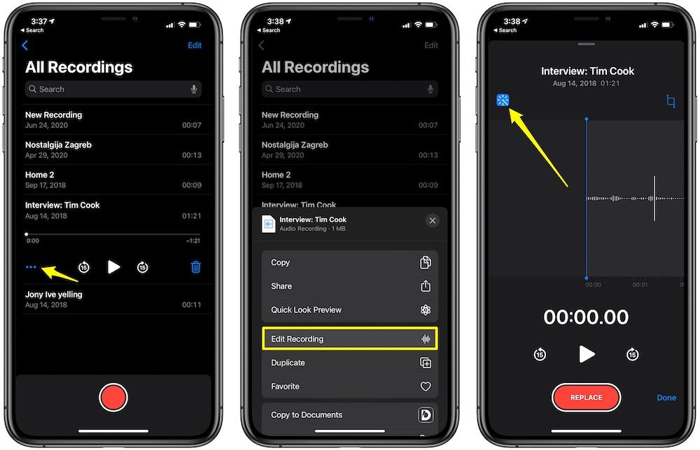 iOS 14 Voice Memos Enhance Recording 001