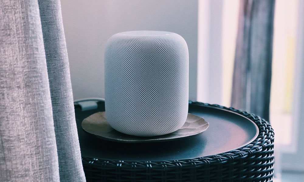 HomePod on side table