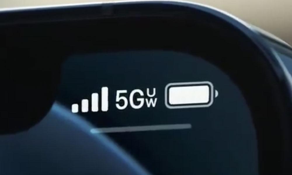 iPhone 12 5G UW indicator