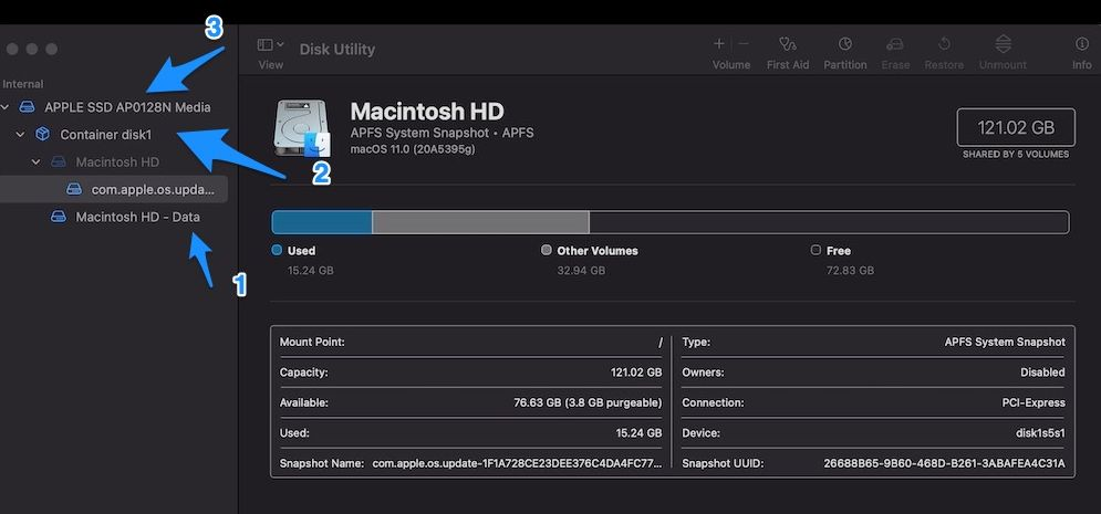 Disk Utility Macbook Air