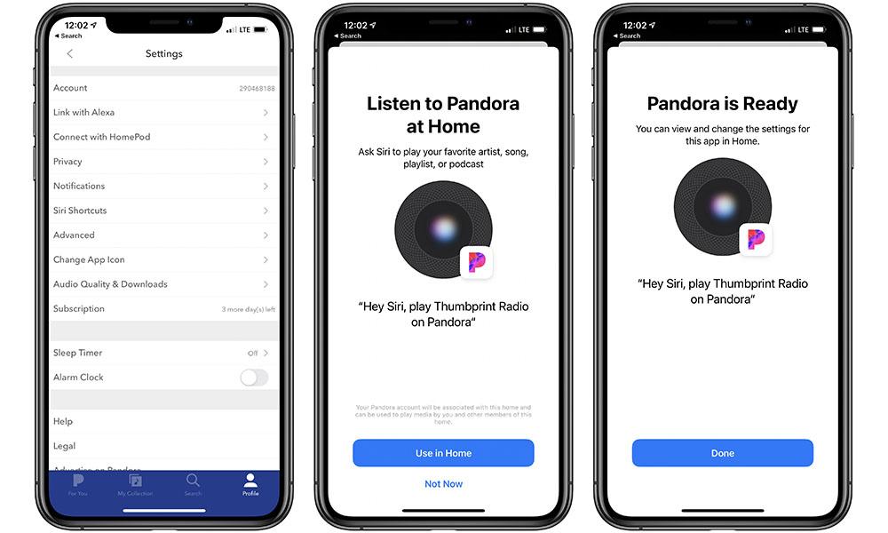 Set up Pandora for HomePod