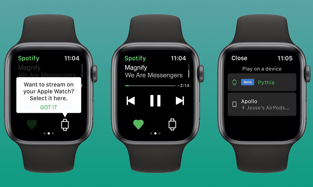 Apple Watch Spotify Streaming