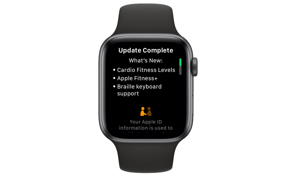 Apple Watch watchOS 7.2 Update Screen