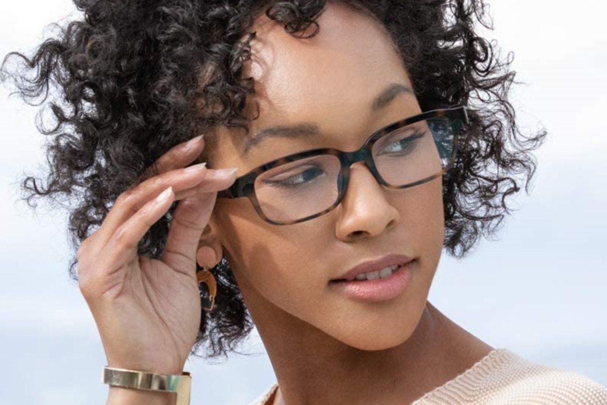Woman Wearing Amazon Echo Frames