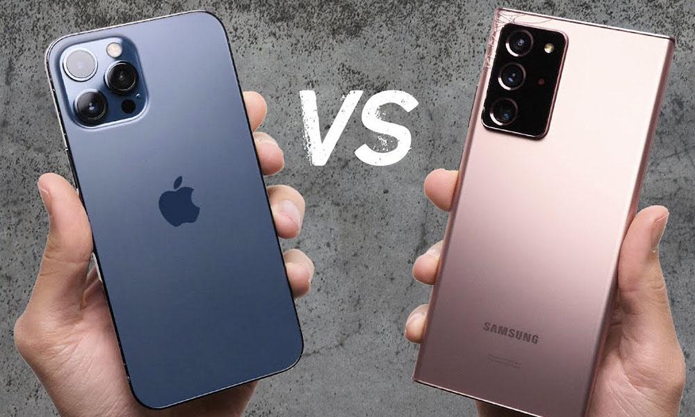 iPhone 12 Pro Max vs Samsung Note 20 Ultra drop test