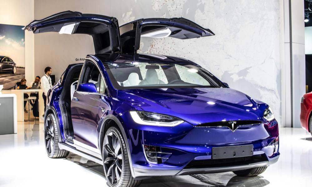 Tesla Model X P100D with Open Gulwing Doors