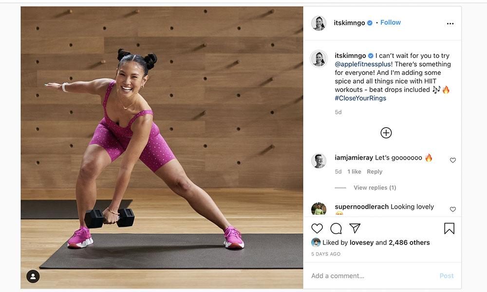 Instagram Apple Fitness 2