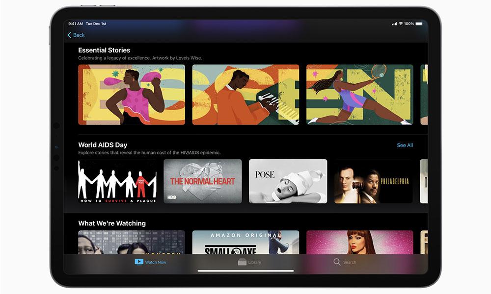 Apple TV iPad World AIDS Day 2020