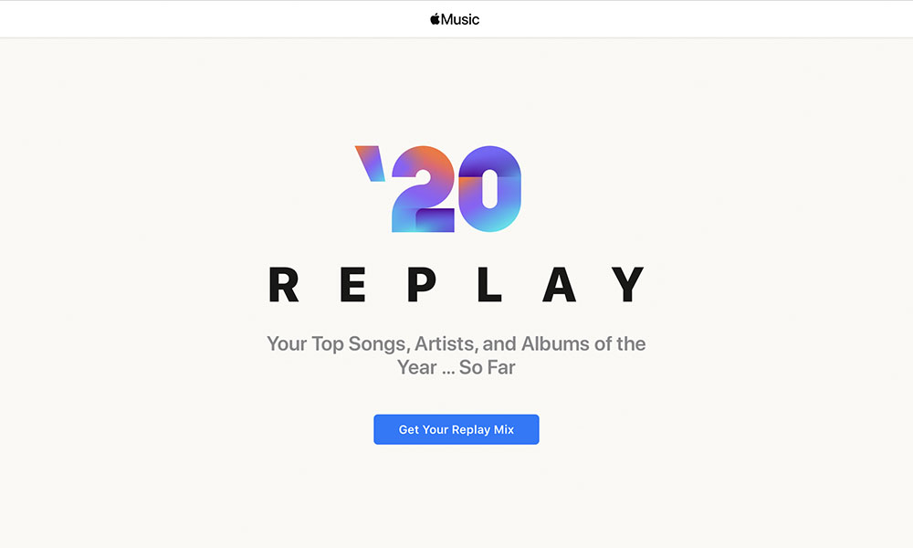 Apple Music Replay 2020 Get Your Mix