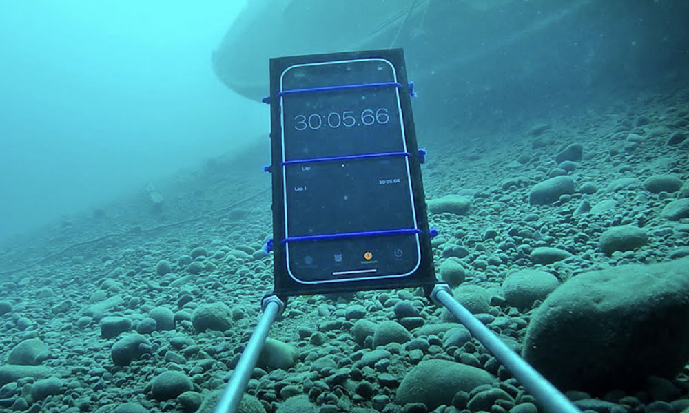 CNET iPhone 12 Water Dive Test Lake Tahoe