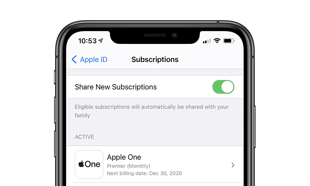 Share New Subscriptions