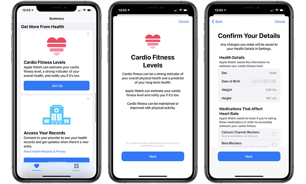 Apple Watch Cardio Fitness Setup 1