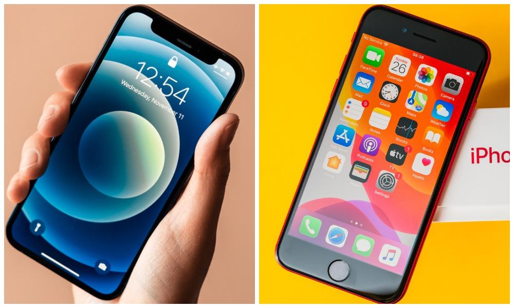 iPhone 12 mini vis iPhone SE 2020