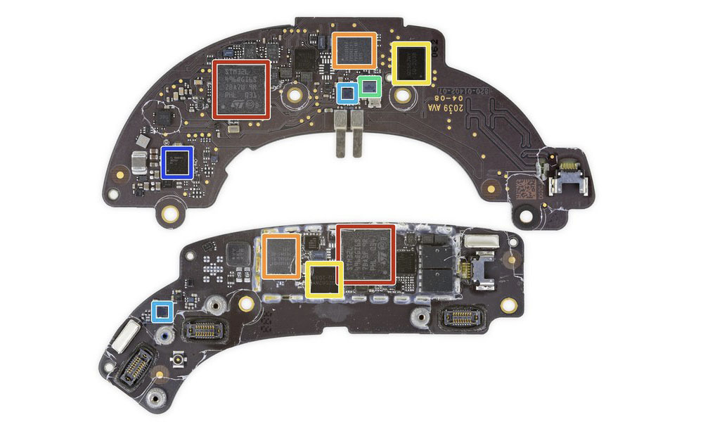 iFixit AirPods Max logic boards
