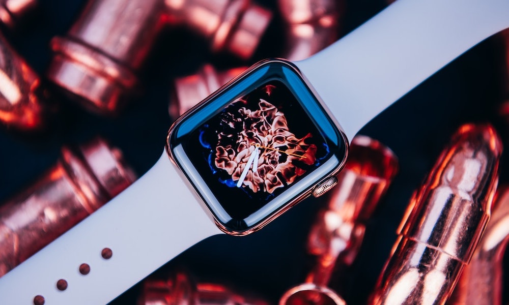 Apple Watch with Flame Wallpaper