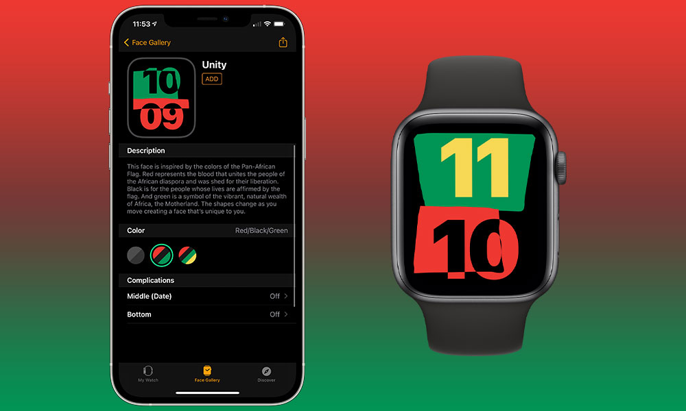 watchOS 7.3 Unity Watch Face
