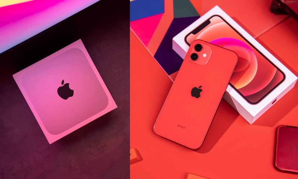 Apple Mac mini and iPhone 12