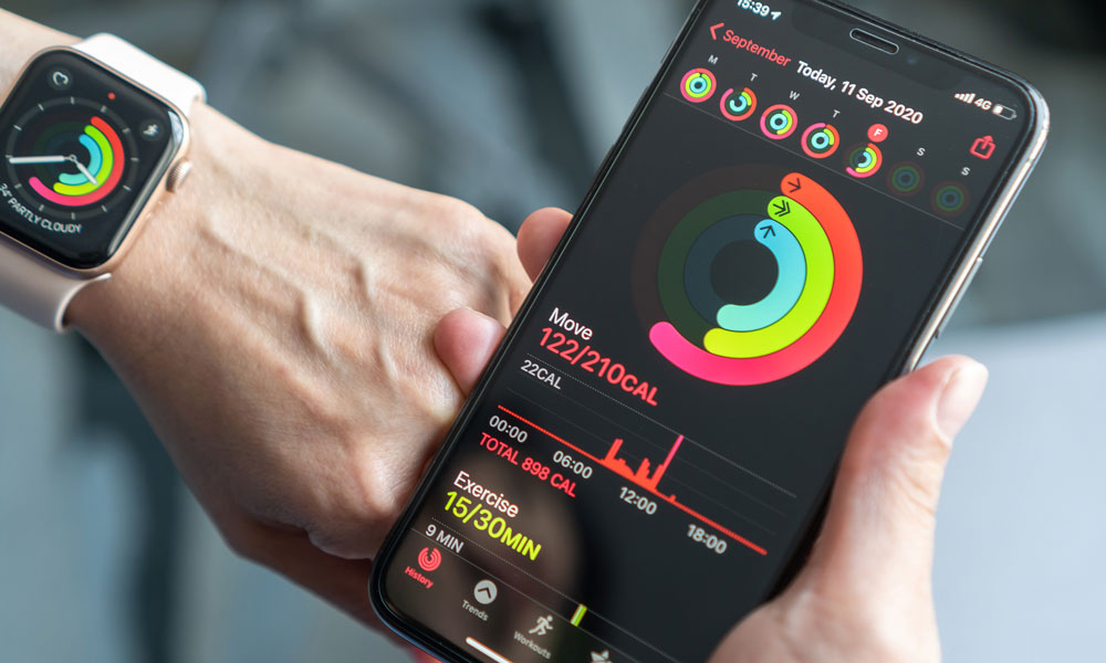 Apple Watch and iPhone Activity Rings