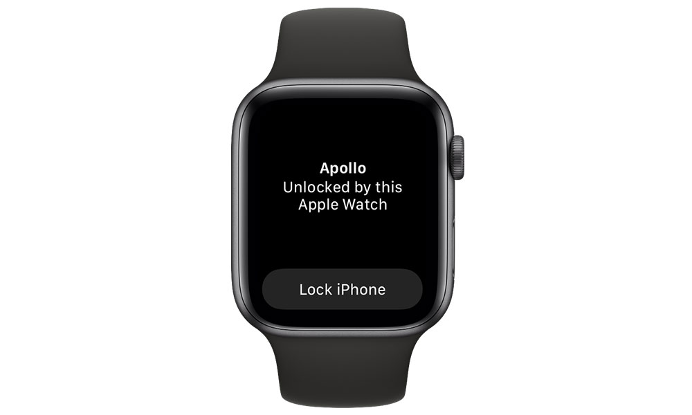 Apple Watch iPhone Face ID Unlock notification