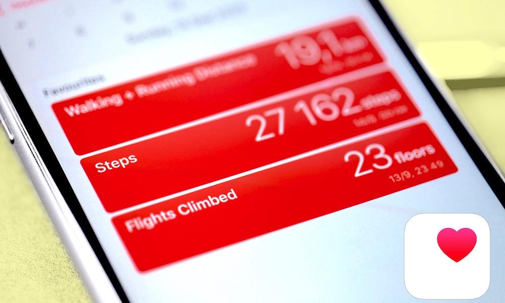 Apple Health App on iPhone with Apple Health Icon