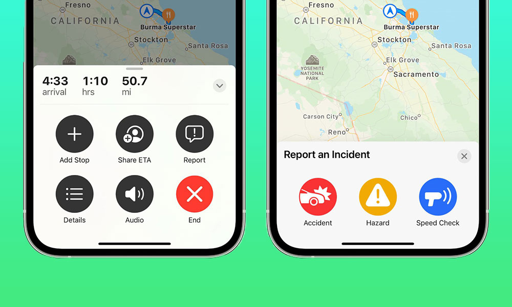 iOS 14.5 Apple Maps Incident Reporting