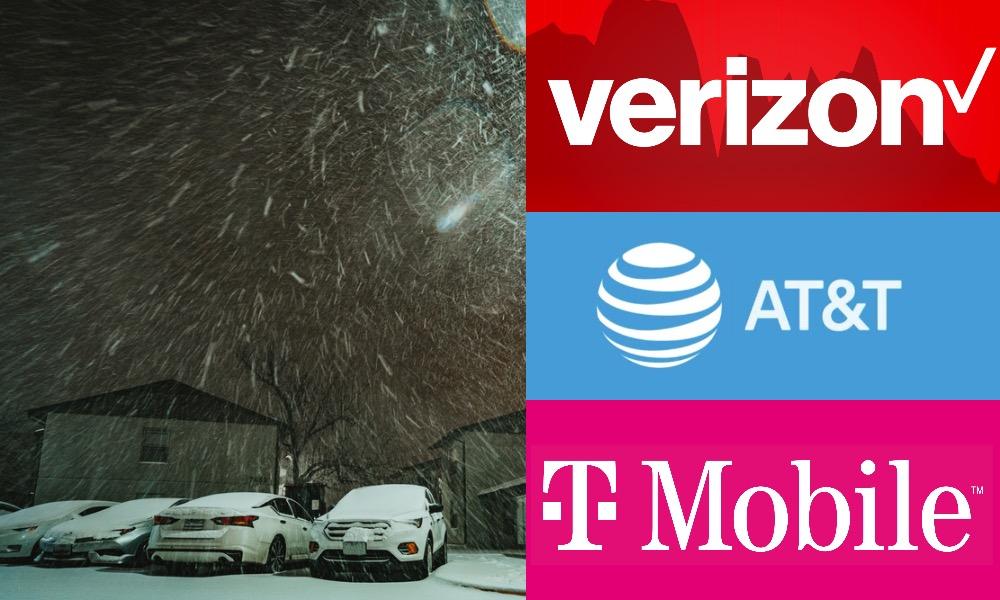 Winter Storm Cellular Outage Verizon ATT TMobile