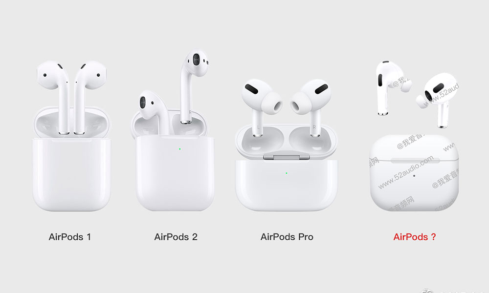 AirPods 3 with previous models leak