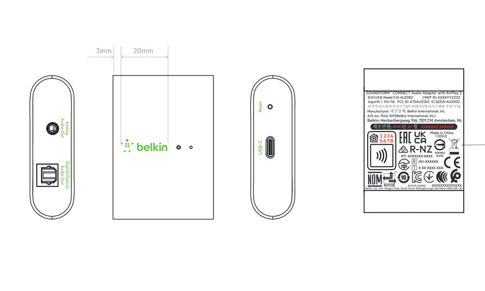 Belkin Soundform Connect FCC diagram