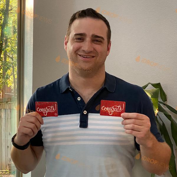 Aaron B iDrop News Xbox Series XGift Card Giveaway Winner August 2021