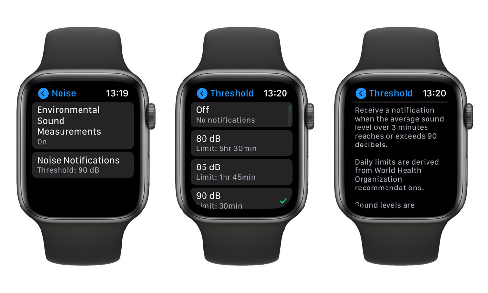 Set Noise notifications on Apple Watch