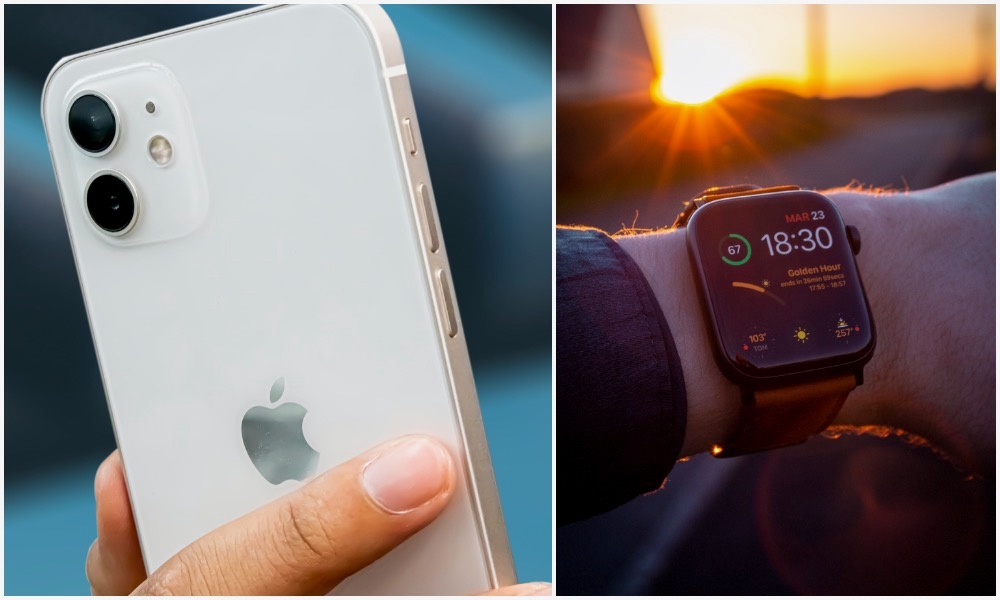iPhone 12 and Apple Watch