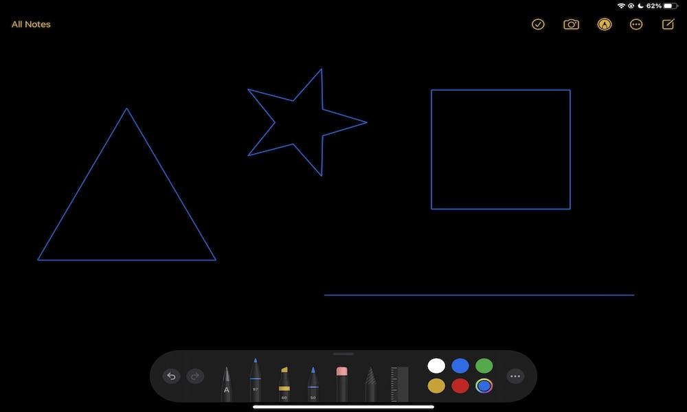 Draw perfect shapes iPad Apple Pencil