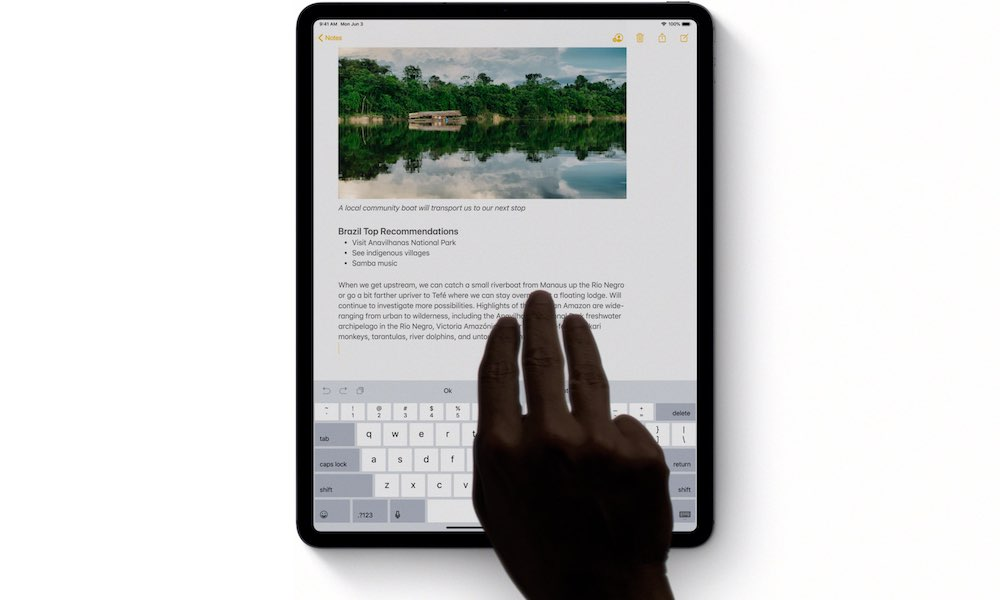 iPad Undo with Three Fingers