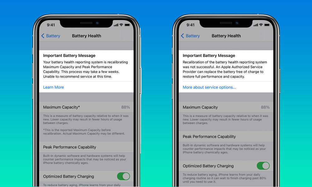 iOS 14.5 Battery Recalibration