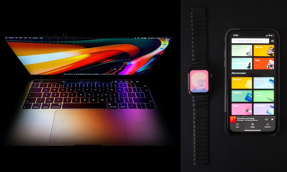 MacBook Pro iPhone and Apple Watch