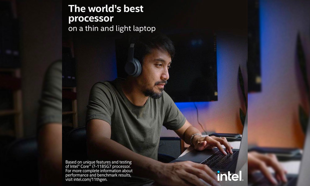 Intel Ad with MacBook