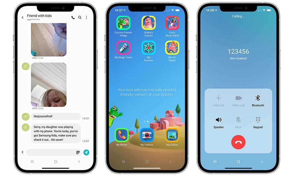 Samsung Galaxy iTest Messages Kids Phone