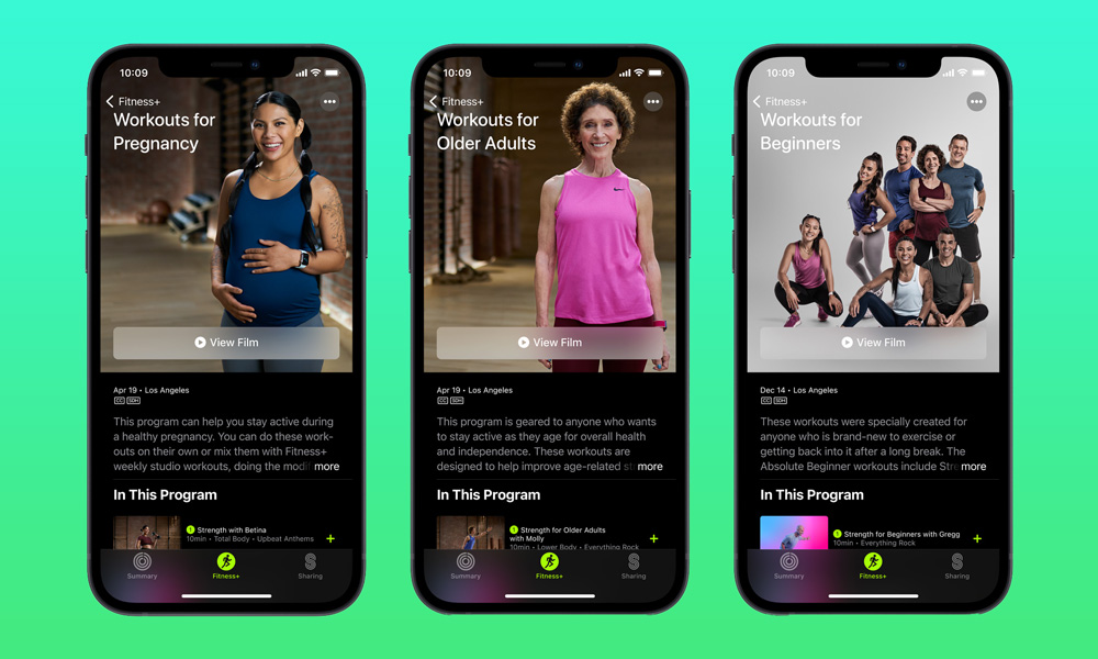 Apple New Fitness Plus Workouts April 2021