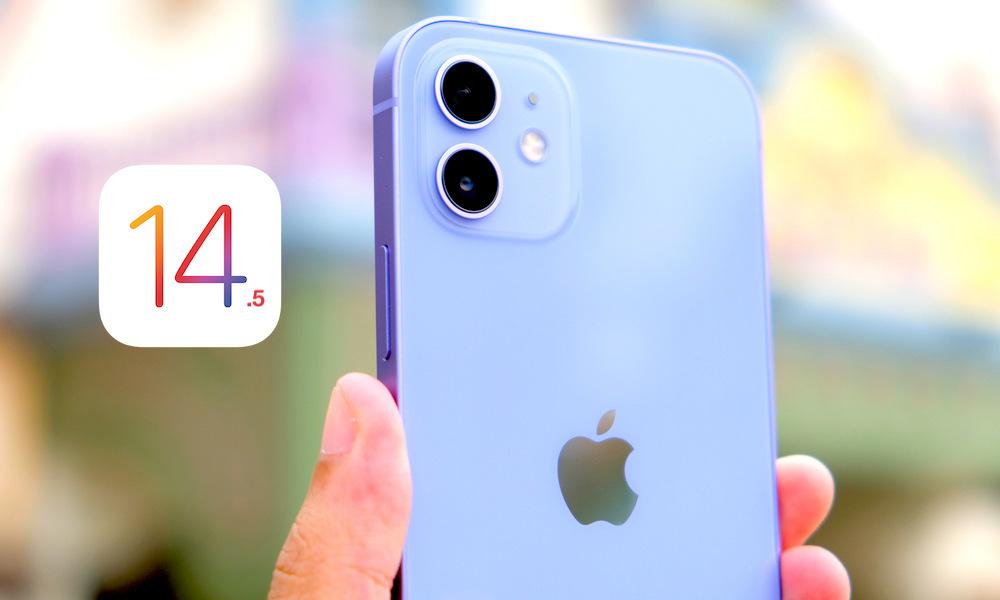 iPhone 12 in Purple Running iOS 14.5