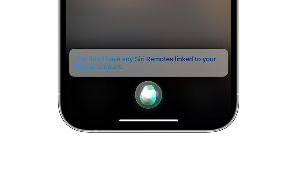 Siri says no Siri Remotes in Find My