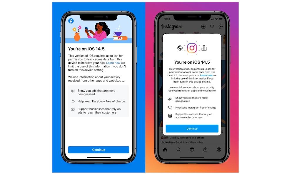 Facebook and Instagram Educational Screens