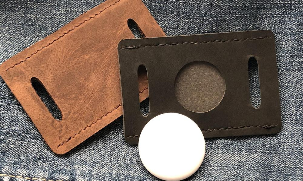 Leather AirTag Holder