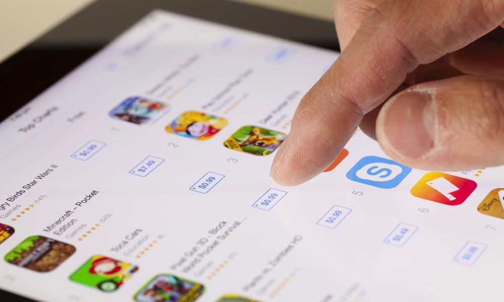 Apple App Store on iPad