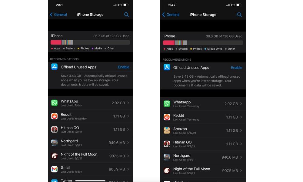 iPhone Native Apps Storage