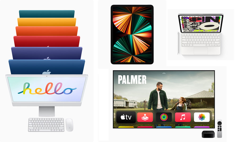 Apple 2021 iMac iPad Pro Apple TV 4K