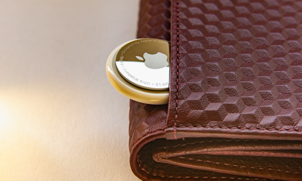 AirTag with Brown Wallet