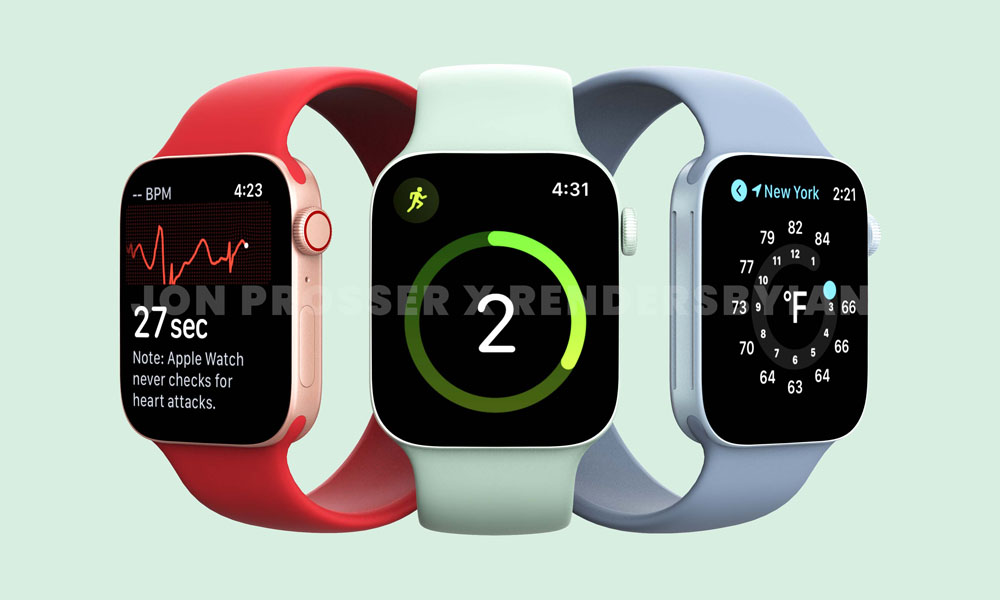 Apple Watch s7 red green blue